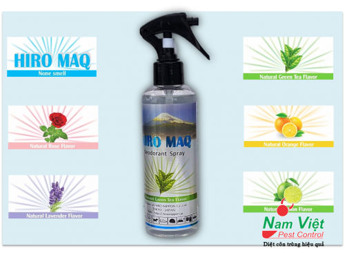 HIRO MAQ - Sản phẩm khử mùi nhanh và hiệu quả của Hiro Việt Nam
